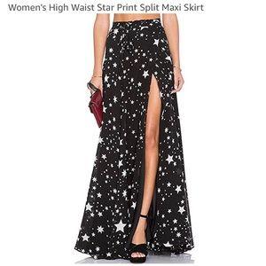 Women's Star Maxi Skirt XL